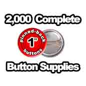 2,000 x Pinned Back Button Supplies 1 inch