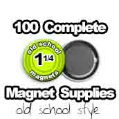 100 x Old School Magnet Supplies 1-1/4 inch