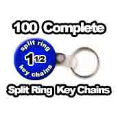 100 x Key Chain Split Ring Supplies 1-1/2 inch