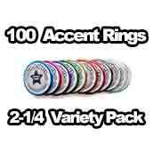 100 x Accent Rings Variety 2-1/4 in.