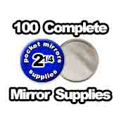 100 x Pocket Mirror Supplies 2-1/4 inch