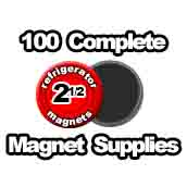 100 x Magnet Supplies 2-1/2 inch