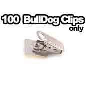 100 x Bulldog Clips Only