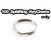 100 x Key Chain Split Rings Only