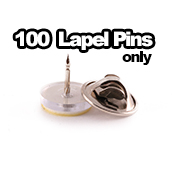 100 x Lapel Pins with Clutches Only