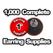 1,000 x Earring Supplies 1 inch