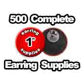 500 x Earring Supplies 1 inch