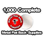 1,000 x Metal Flat Back Supplies 1 inch