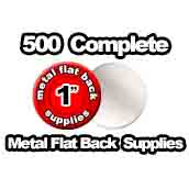 500 x Metal Flat Back Supplies 1 inch