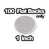 100 x Metal Flatbacks Only 1 inch