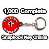 1,000 x Snaphook Key Chains 1 inch