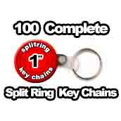100 x Split Ring Key Chains 1 inch
