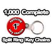 1,000 x Split Ring Key Chains 1 inch