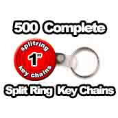 500 x Split Ring Key Chains 1 inch