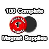 100 x Magnet Supplies 1 inch
