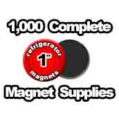 1,000 x Magnet Supplies 1 inch