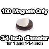 100 x Magnets Only 1 inch