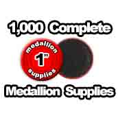 1,000 x Medallion Supplies 1 inch