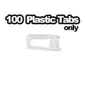 100 x Plastic Tab Only 1 inch