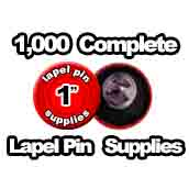 1,000 x Lapel Pin Supplies 1 inch