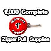 1,000 x Zipper Pull Supplies 1 inch