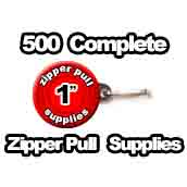 500 x Zipper Pull Supplies 1 inch