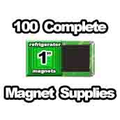 100 x Magnet Supplies 1 inch Square