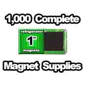 1,000 x Magnet Supplies 1 inch Square