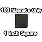 100 x Magnets Only 1 inch Square