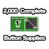 2,000 x Pinned Back Button Supplies 1 inch square