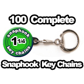 100 x Key Chain Snaphook Supplies 1-1/4 inch