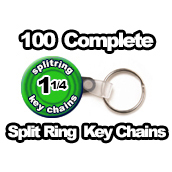100 x Key Chain Split Rings Supplies 1-1/4 inch