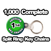 1,000 x Key Chain Split Rings Supplies 1-1/4 inch
