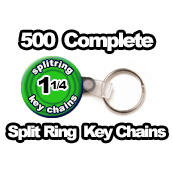 500 x Key Chain Split Rings Supplies 1-1/4 inch