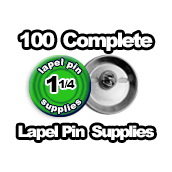100 x Lapel Pin Supplies 1-1/4 inch