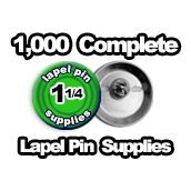 1,000 x Lapel Pin Supplies 1-1/4 inch