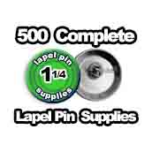 500 x Lapel Pin Supplies 1-1/4 inch
