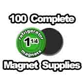 100 x Magnet Supplies 1-1/4 inch