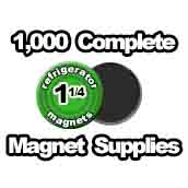 1,000 x Magnet Supplies 1-1/4 inch