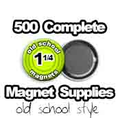 500 x Old School Magnet Supplies 1-1/4 inch