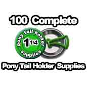 100 x Pony Tail Holder Supplies 1-1/4 inch