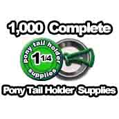 1,000 x Pony Tail Holder Supplies 1-1/4 inch