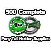 500 x Pony Tail Holder Supplies 1-1/4 inch
