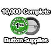 10,000 x Pinned Back Button Supplies 1-1/4 inch