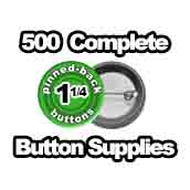 500 x Pinned Back Button Supplies 1-1/4 inch