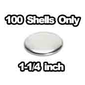 100 x shells only 1-1/4 inch