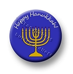 Printable Button Art  - Happy Hanukkah