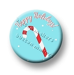 Printable Button Art  - Happy Holidays