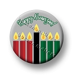 Printable Button Art  - Happy Kwanzaa