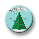 Printable Button Art  - Merry Christmas